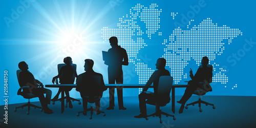 Fototapeta réunion - entreprise - international - commerce - monde - présentation - internationale - marché obraz