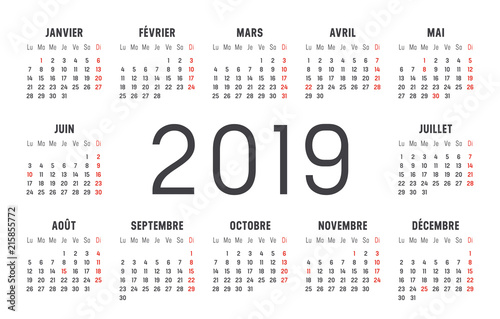 Calendrier 1919.Calendrier Agenda 2019 Buy This Stock Vector And Explore