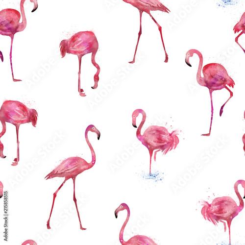 bezszwowe-flamingi-wzor-akwarela