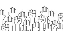 Fists Hands Up Vector Illustra...