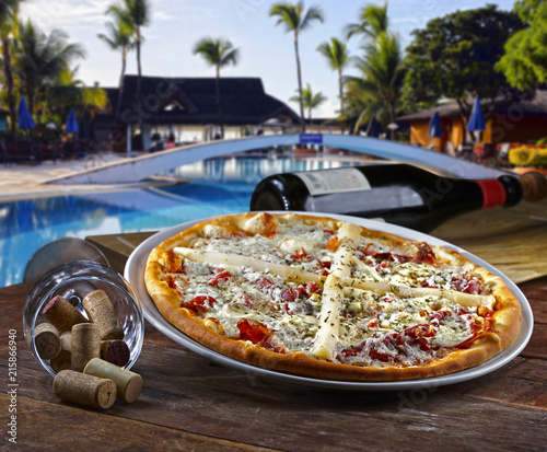Pizzeria on the beach