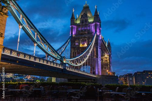 tower Bridge lit at night Wallpaper Mural