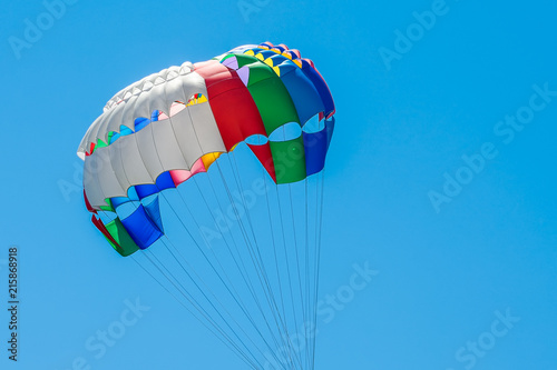 Foto op Canvas Luchtsport Part of the dome of the parachute against the sky