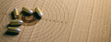 Bullets On Shooting Target, Re...