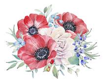 Watercolor Nautical Bouquet.