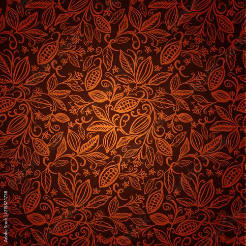 Pinturas sobre lienzo  cacao beans seamless pattern