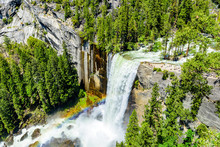 Vernal Falls And Merced River,...