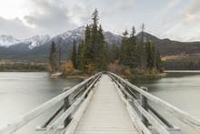 Pedestrian Footbridge On Pyramid Lake