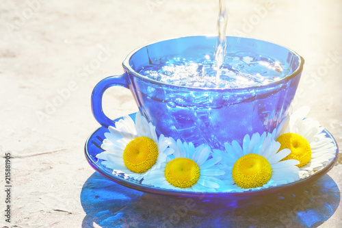Drink beverage from chamomile herbs