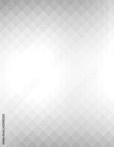 Abstract geometric background with grey and white color tone triangle shapes. Fototapete