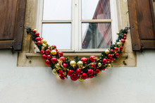 Christmas Decoration On Window