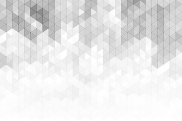 Fototapeta Minimalistyczny Abstract geometric background with grey and white color tone triangle shapes.