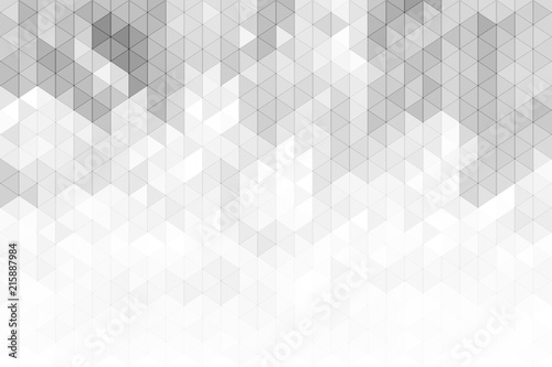 Fotografie, Obraz  Abstract geometric background with grey and white color tone triangle shapes