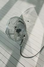 Ventilator On White Floor With...