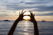 Child Hand Silhouette, Heart S...
