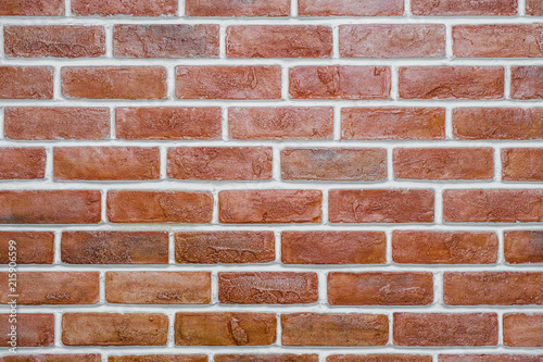Foto op Aluminium Wand Red brick wall Texture Design. Empty red brick Background for Presentations and Web Design. A Lot of Space for Text Composition art image, website, magazine or graphic for design