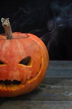 Smoking Pumpkin Lantern