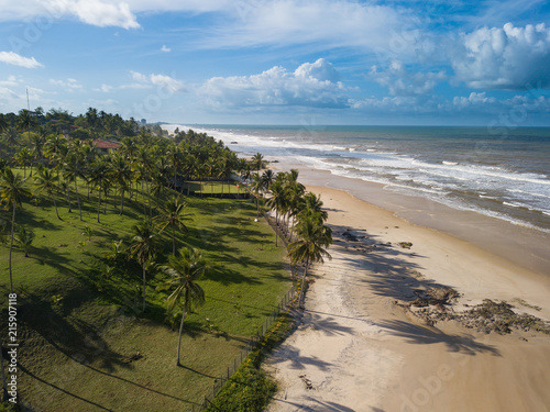 Drone Aerial View from sea in Ilhéus Bahia - Northeast Brazil