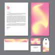 Branding identity template corporate company design, Set for business hotel, resort, spa, vector illustration