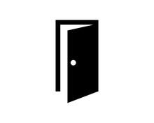 Door Silhouette Furniture Furnishing Exterior Interior Home Architecture Image Vector Icon Logo