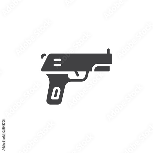 gun pistol vector icon filled flat sign for mobile concept and web design hand gun weapon simple solid icon firearm symbol logo illustration pixel perfect vector graphics buy this stock vector gun pistol vector icon filled flat