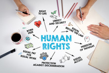 Human Rights Concept. Chart Wi...