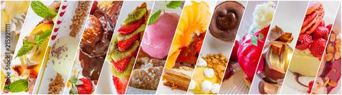 frise de desserts Canvas-taulu