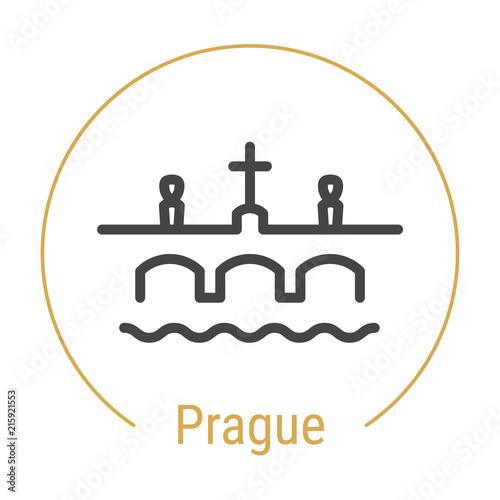 Photo  Prague, Czech Republic Vector Line Icon