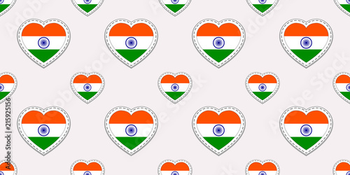 India background  Indian flag seamless pattern  Vector