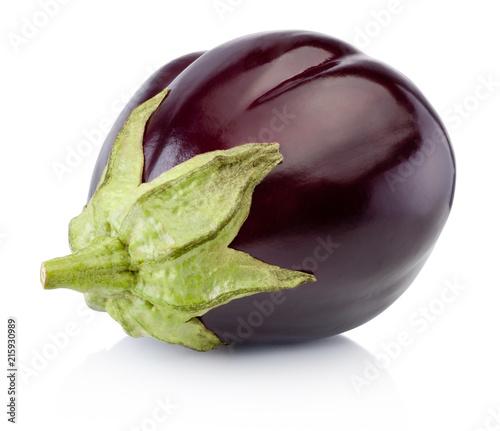 Fresh aubergine isolated on a white background