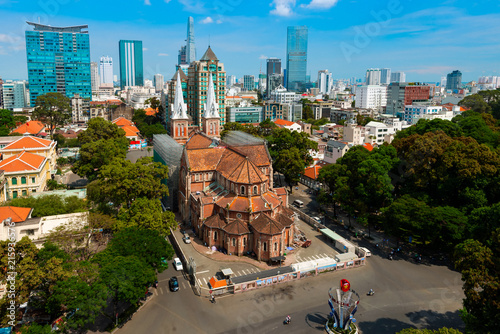 Fotografia  Notre Dame de Saigon Cathedral at Ho Chi Minh in Vietnam.