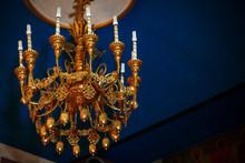 Luxurious Golden Chandelier Wi...
