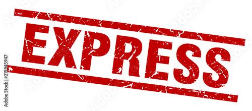 Fotografie, Obraz square grunge red express stamp