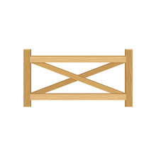 Wooden Farm Fence From Crossed...