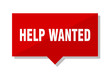 help wanted red tag