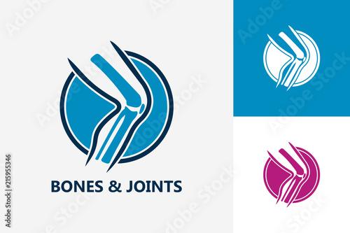Obraz Bones And Joints Logo Template Design Vector, Emblem, Design Concept, Creative Symbol, Icon - fototapety do salonu