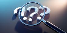 Lupe Mit 3 Fragezeichen - Suche - Suchfunktion