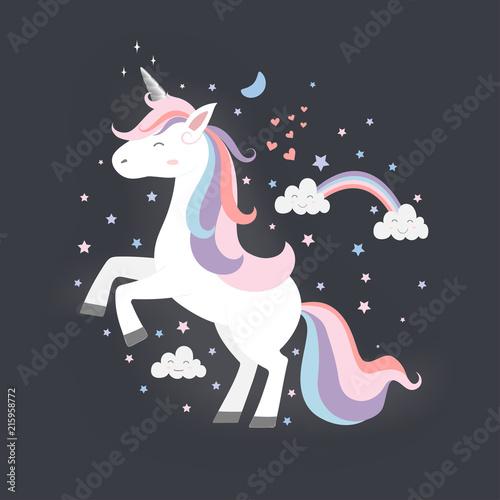 Photo  Cute Unicorn Princess, Magic creature.
