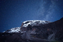 Mount Kilimanjaro Under The Stars