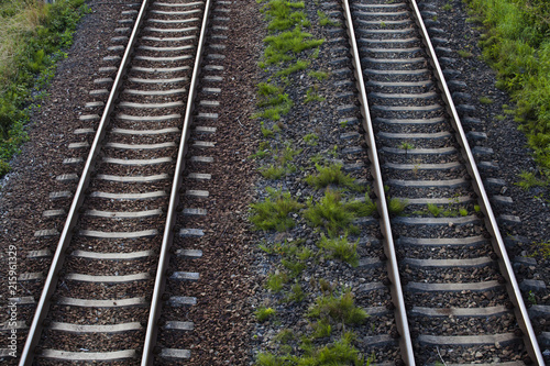 Parallel railroad rails