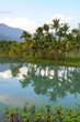 Beautiful landscape with reflections on lake at sunset in Hualien, Taiwan