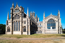 East Side Of Ely Cathedral In Ely, England, United Kingdom