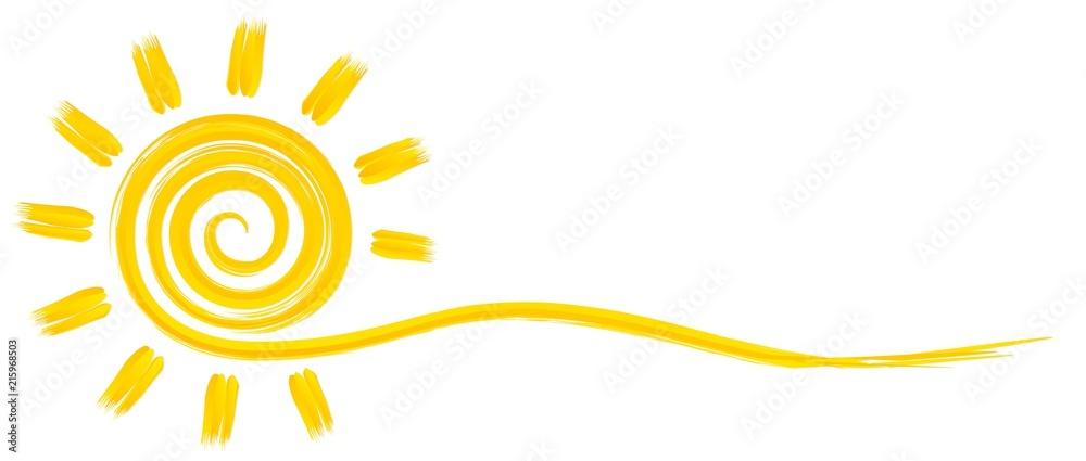 Fototapety, obrazy: Символ яркого летнего солнца с лучами.
