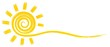 Leinwandbild Motiv Символ яркого летнего солнца с лучами.