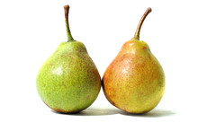 Pair Of Pears On A White Backg...