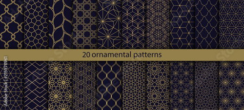 Carta da parati Big set of 20 oriental patterns