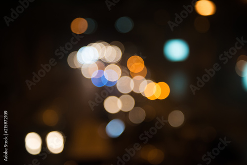Fotografiet  blur image of city at night