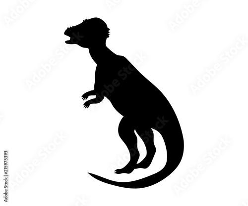 Pachycephalosaurus silhouette dinosaur jurassic prehistoric anim Wallpaper Mural
