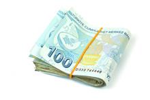 Turkish Banknotes. Turkish Lira ( TL ) Isolated On White Background.