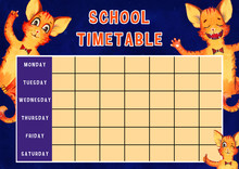 Template Of School Timetable W...